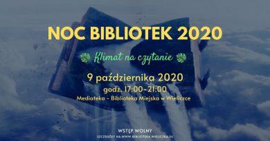 Noc Bibliotek 2020 – Klimat na czytanie